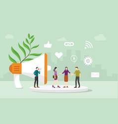 Pr public relations business corporate concept vector