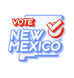 presidential vote in new mexico usa 2020 state vector image
