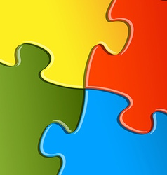 puzzle solution background vector image