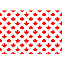Red maple canada seamless pattern vector
