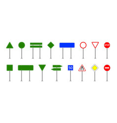 road sign street board for traffic road sign of vector image
