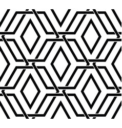 seamless pattern with black hexagon shapes vector image