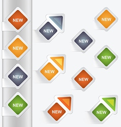 Set of arrows and labels vector