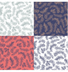 set patterns decoration vector image