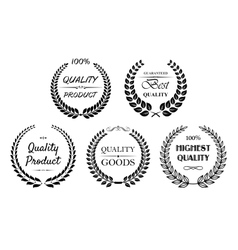 Set quality wreaths for retail vector