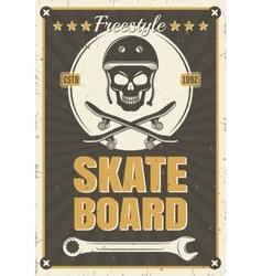 Skateboard Vintage Poster vector