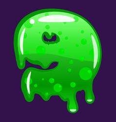 slime font type number 9 latin alphabet green vector image