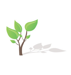 Small tree growing vector