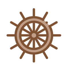 steering wheel icon outline vector image