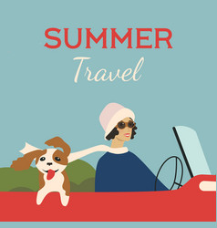 Summer travel 1920s style vector
