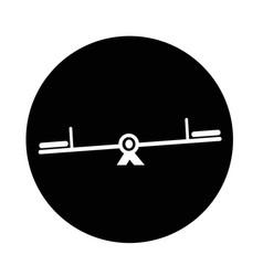 Teeter icon vector