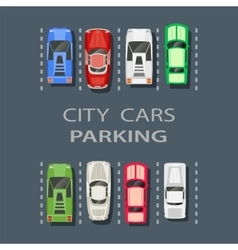 Top view of a city parking vector image