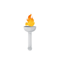 Torch fire flame ancient light burning lantern vector