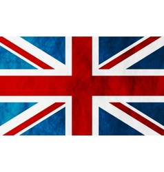 United Kingdom of Great Britain grunge flag vector image