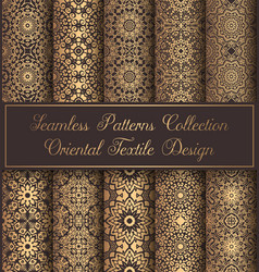 vintage backgrounds luxury seamless patterns vector image