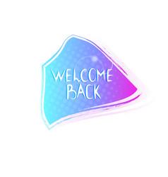 welcome back special price sticker coronavirus vector image