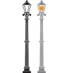 City Streetlamp Set vector image vector image