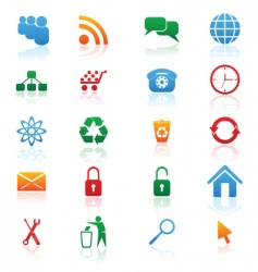 colored icons vector image vector image