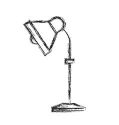 desk lamp electricity equipment sketch vector image