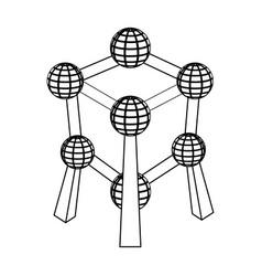 monument to the atom in belgiumthe dark belgian vector image