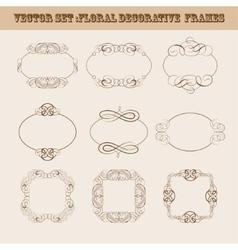 Set of frames for design vector image vector image