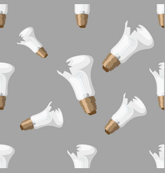 cartoon broken bulb seamless pattern background vector image vector image