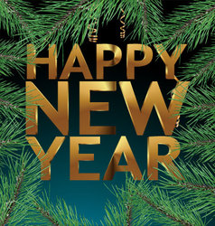 Happy new year - banner vector image