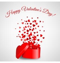 Heart gift vector image