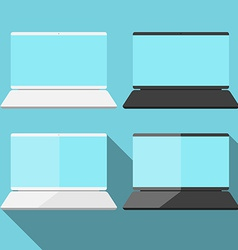 Laptop in flat style vector image