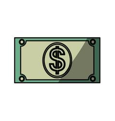money billet isolated vector image vector image