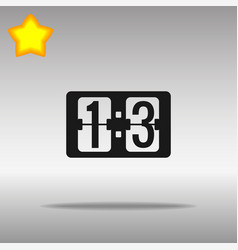 scoreboard black icon button logo symbol vector image vector image