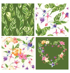 Set of Tropical Backgrounds vector image