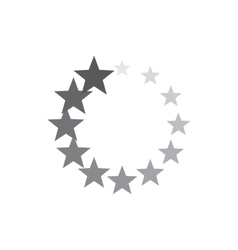 Abstract geometric circle of stars icon vector image vector image