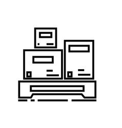 cargo measurement line icon sign vector image vector image