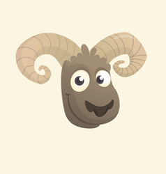 cartoon cute sheep vector image