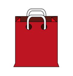 color image cartoon realistic red bag for shopping vector image
