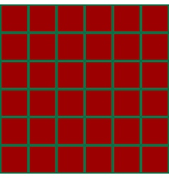 Green Grid Chess Board Red Background vector image vector image