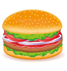 hamburgers isolated on white background vector image vector image
