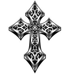 ornate celtic cross vector image