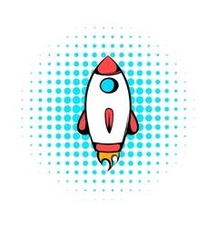 Rocket icon comics style vector