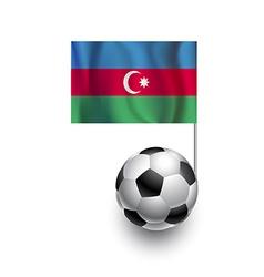 Soccer Balls or Footballs with flag of Azerbaijan vector image
