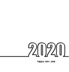 2020 background creative greeting card design vector image