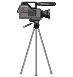 A professional video camera vector