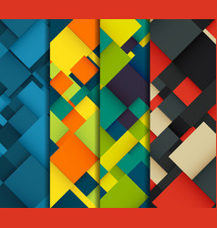 Abstract background set with colorful squares vector