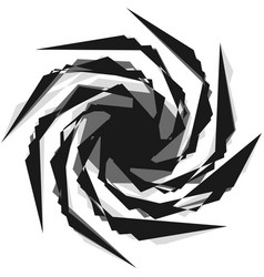 abstract black and white spiral radial radiating vector image