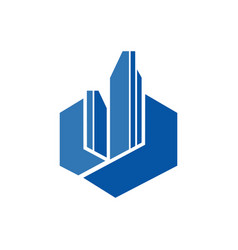 abstract realty logo vector image