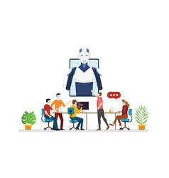 Ai artificial intelligence robot team developer vector