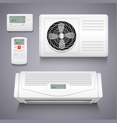 Air conditioner isolated realistic vector