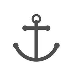 anchor single icon separate isolated sign vector image