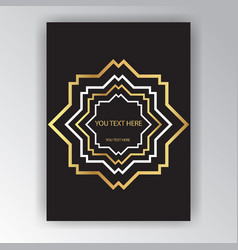 Art deco page template octagonal geometric vector